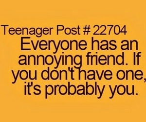 true, friends, and annoying image