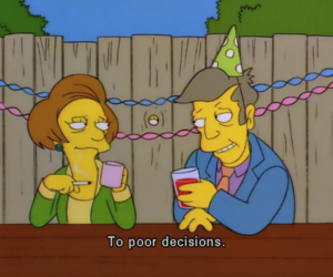 the simpsons, decisions, and simpsons image