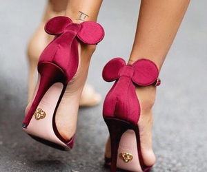 shoes, pink, and minnie image