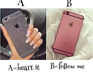 iphone, heart, and pink image