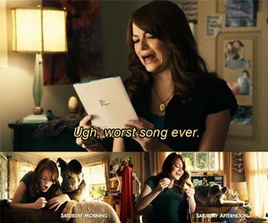 emma stone, easy a, and relatable image
