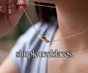 necklace, simple, and girly things image