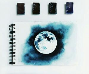 art, cosmos, and notebook image