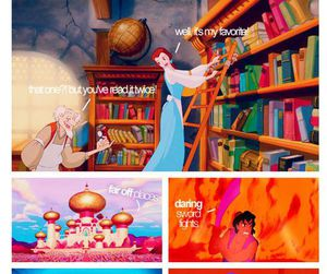 disney, aladdin, and beauty and the beast image