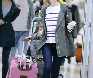 gg, jessica, and airport fashion image