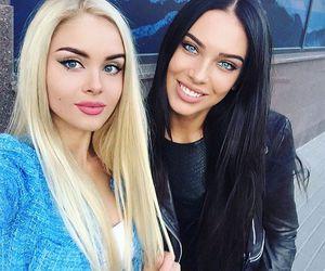 bff, blue eyes, and girls image