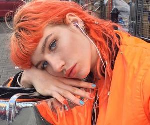 girl, orange, and hair image
