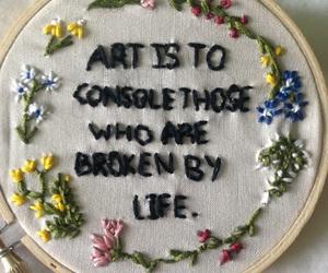 art, flowers, and life image