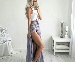 beautiful, dress, and fit image