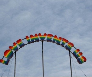 love, rainbow, and aesthetic image