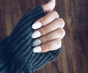 fall, glitter, and nails image