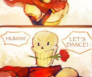 papyrus, undertale, and dancetale image