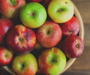food, apples, and fruit image