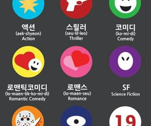 korean, learn, and movie image