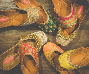 colourful, shoes, and desi image