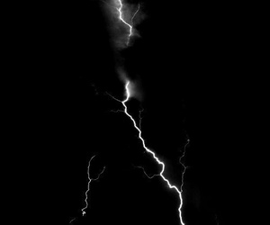 black and white, dark, and sky image