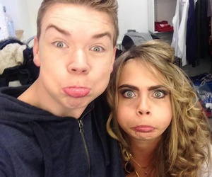 cara delevingne, will poulter, and model image
