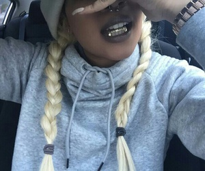 grill, gold, and grillz image