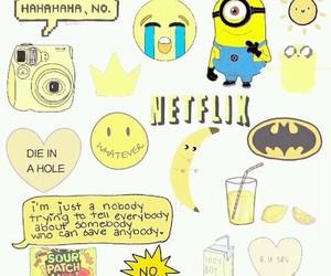 yellow, minions, and banana image