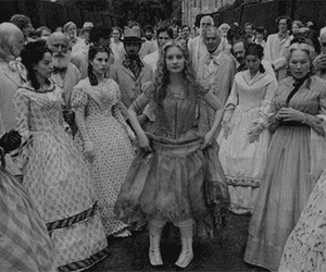 alice, black and white, and dance image