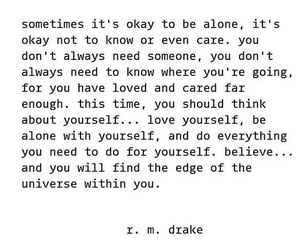 alone, belive, and care image