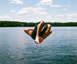 boy, jump, and legs image