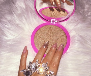 makeup, nails, and luxury image