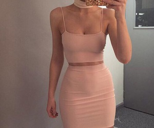 crop top and skirt image