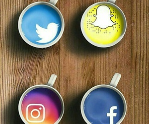 cup, facebook, and twitter image