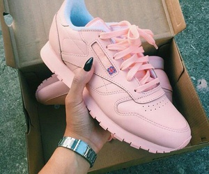 pink, shoes, and reebok image