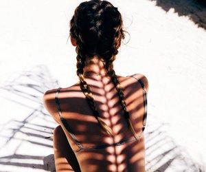 beach, shadows, and summer image