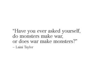 quotes, war, and monster image