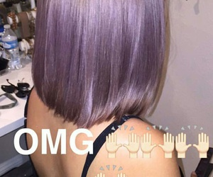 backless dress, flawless hairstyle, and lavender hair image