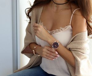 accessories, jeans, and watch image