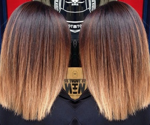 blonde ombre hair and short straight ombre hair image