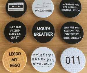 badges, netflix, and strangerthings image