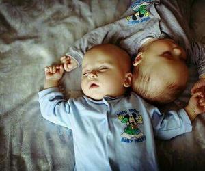 baby, sleep, and twins image