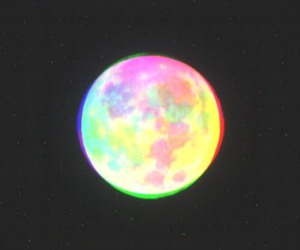 moon, night, and colors image