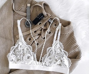 bralette, fashion, and sweater image