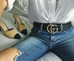 gucci, belt, and shoes image
