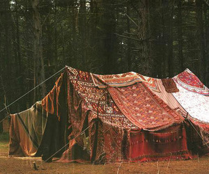 tent, gypsy, and hippie image