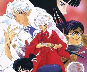 inuyasha, kagura, and manga image