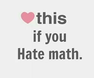 school, hate, and math image