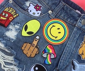 denim, patches, and hippie patches image