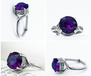 etsy, purple ring, and promise ring image