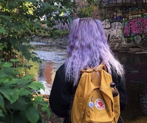 plants, purple hair, and tumblr image