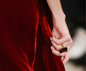 red, dress, and ring image