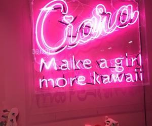 kawaii, neon, and pink image
