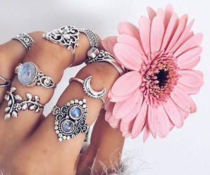 rings, boho, and silver image