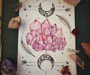 art, crystal, and pink image